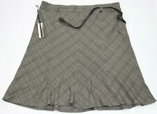 Renuar Plus Size Brown Plaid Skirt Size 20W