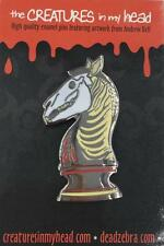 LAST KNIGHT ENAMEL LAPEL PIN CREATURES IN MY HEAD/DEAD ZEBRA ANDREW BELL