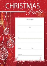 Buy christmas invitation cards ebay christmas party invitations x 20 a5 with envelopes red baubles stopboris Image collections