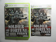 NO GAME-XBOX 360 SOLDIER OF FORTUNE PAYBACK - CASE & MANUAL ONLY -NO GAME
