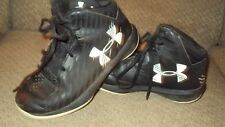 BOY'S UNDER ARMOUR ATHLETIC HIGH TOP SHOES-SIZE 13K-BLACK/WHITE