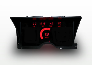 1992-1994 Chevy Truck Digital Dash Panel Red LED Gauges Made In The USA