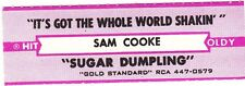 Juke Box Strip SAM COOKE - IT'S GOT THE WHOLE WORLD SHAKIN' / SUGAR DUMPLING