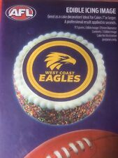 Official AFL West Coast Edible Icing Cake Topper