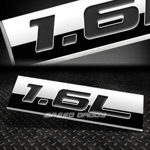 METAL EMBLEM CAR BUMPER TRUNK FENDER DECAL LOGO BADGE CHROME BLACK 1.6L 1.6 L