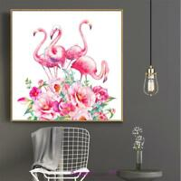 5D DIY Flamingo Diamond Painting Embroidery Cross Stitch Kit Home Decor Craft