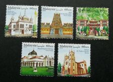 Malaysia Places Of Worship 2016 Mosque Islamic Temple Church Building (stamp MNH