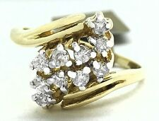 GENUINE 0.60 Cts DIAMONDS COCKTAIL RING 14k Yellow Gold ** NEW WITH TAG **