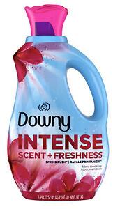 Downy Intense Scent + Freshness Fabric Softener, Spring Rush, 48 Fl Oz