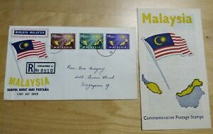 Rare Queen Street, Singapore Chop Malaysia Day 1963 Merdeka 3v stamp FDC R8910