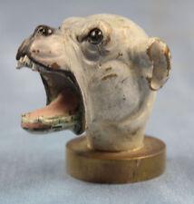 Dogge Kopf bulldogge  bronze  seltenes original um 1900 hund