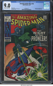 Amazing Spider-Man #78 1969 CGC 9.0 -Stan Lee, Origin and 1st app of the Prowler