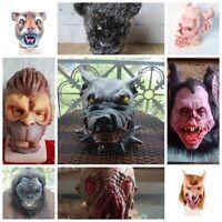 Horror Latex Animal Pig Head Full Face Mask Cosplay Halloween Party Helmet Props