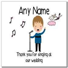 Thank You For Singing At Our Wedding Male Personalised Coaster