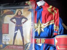 womens Rubies captain marvel stretch  jump suit fancy dress costume/outfit M/lL