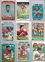 Redskins Vintage Lot of (30) Different All-Time Greats w/ Rookies Clark Houston
