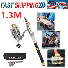 1.3M Lixada Telescopic Fishing Rod Reel Combo Kit Spinning Fishing Reel Set