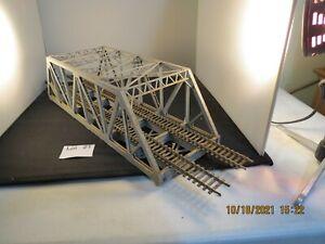 "Lot 21: Kit Built Plastic dual track trestle bridge 15"" x 5"" wide  HO"
