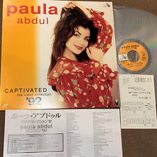 PAULA ABDUL Captivated The Video Collection JAPAN Laser Disc SBLL-27 w/INSERT