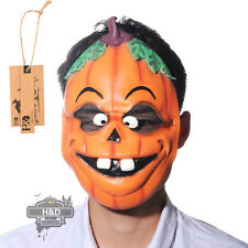 Horror Halloween Pumpkin Funny Latex Mask Ghost Fancy Party Dress Cotsumes Props