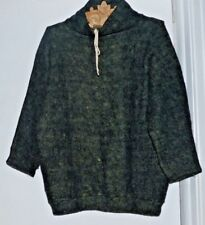 Very fuzzy  mohair sweater top big cozy size Medium Free shipping green