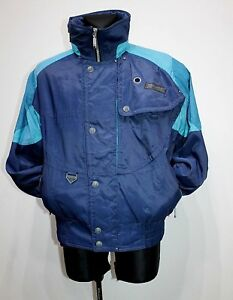 VTG SPYDER ENTRANT GII Blue Ski Snowboard Jacket Mens INSULATED Size 52 / UK 42