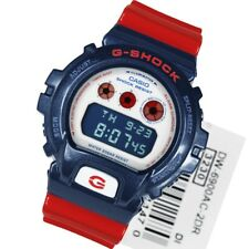 0 * Nuevo * CASIO Mens G Shock Reloj Rojo Azul Digital Flash DW-6900AC-2A PVP £ 99