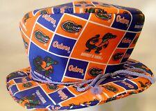 University of Florida Gators Mad Hatter Top Hat Costume Fabric Alligator Logo