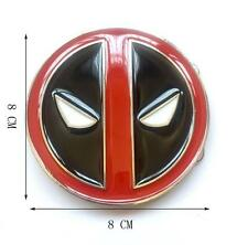 Men Comic  Superhero Weapon X Wade Wilson Deadpool Mask Metal Belt Buckle