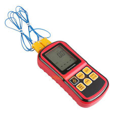 LCD Thermocouple Thermometer Measure J K T E N R Type 2 Channel GM1312 w/ cord