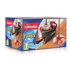 Wischmop Vileda Turbo EasyWring & Clean Komplettset Eimer Bodenwischer