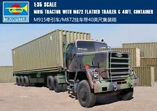 Trumpeter 1/35 01015 M915 TRACTOR WITH M872 FLATBED TRAILER & 40FT.CONTAINER