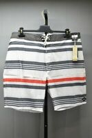 Rip Curl Covine NR Board Shorts, Men's Size 38, White/Charcoal/Red NEW