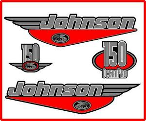 Johnson 150HP Oceanpro Outboard Boat Motor Decal Kit Cowling Engine