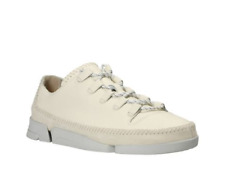 Clarks Trigenic Flex 2 Mens Originals Shoes White Leather Size UK 9 1/2 G