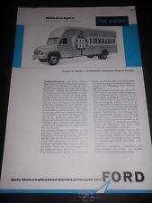 Prospektblatt Sales Brochure Ford FK 4500 Möbelwagen LKW Truck Camion Technisch