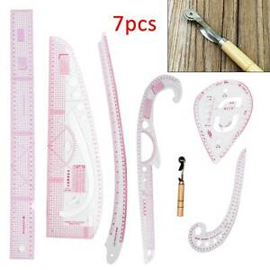 7pcs Tailor Tool French Tailor Sew Curve Ruler Metric Measure Dressmaking Sewing