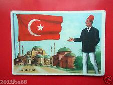figurines cromos cards figurine sidam gli stati del mondo 4 turchia bandiere sas