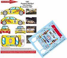 """DÉCALS 1/43 réf 1287 Peugeot 306 Maxi """"Les Vandes"""" Condroz 1997"""