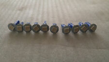 10x Blue SMD LED Dash Board Wedge Instrument Panel Light Bulb T5 73 74 Fits GMC