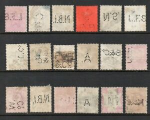 INDIA GROUP OF *** PERFINS *** MAINLY Q VICTORIA, WITH KEVII