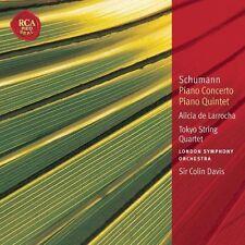Schumann - Piano concerto/Quintet Davis De Larrocha Tokyo string quartet New Rca