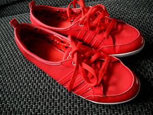 👟Adidas  Neo Piona Sneaker - Ballerina Rot + Lack Series 12/11 Neuw.
