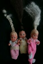 Vintage 1973 Mattel Baby Toddler Krissy Crissy Barbie Mini Rooted Hair Lot Rare