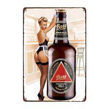 Metal Tin Sign bass beer Bar Pub Home Vintage Retro Poster Cafe ART