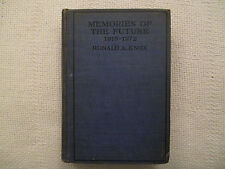 Memories Of The Future 1915-1972 Ronald A. Knox George H Doran Co hardcover VG-