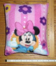New * Minnie MOUSE *  XSmall FLEECE Fabric Pillow   Handmade by me in the U.S.A.
