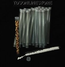 Package Of 100 Round Clear Plastic Storage Tubes 6