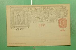 DR WHO 1898 PORTUGUESE INDIA UNUSED POSTAL CARD  g10413