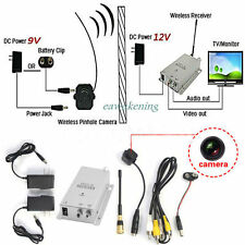 Mini Wireless Security Nanny Camera Hidden Pinhole Micro Cam Complete System VP